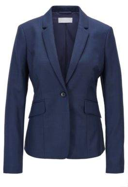 BOSS Hugo Regular-fit wool-blend jacket dynamic cutlines 2 Open Blue