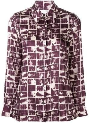 Victoria Beckham Victoria geometric print long-sleeve shirt