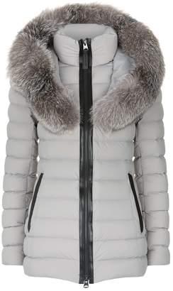Mackage Kadalina Lightweight Fur Trim Collar Jacket