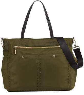 Milly Minis Solid Stitch Diaper Bag