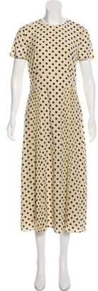 Burberry Silk Polka Dot Dress