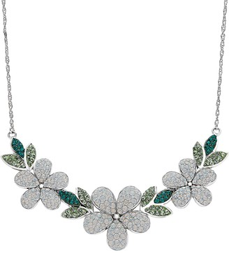 ArtistiqueSterling Silver Crystal Flower Necklace