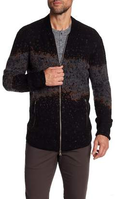 John Varvatos Collection Zip Front Sweater