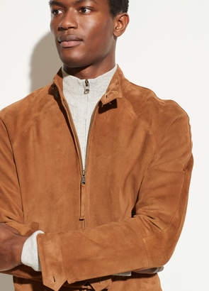 Suede Harrington Jacket