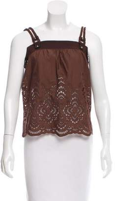 Gucci Sleeveless Lace Top