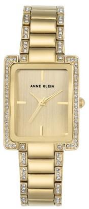 Women's Anne Klein Crystal Bracelet Watch, 28Mm X 35Mm $95 thestylecure.com