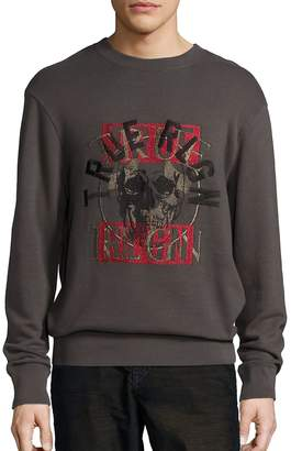 True Religion Men's Printed Crewneck Sweatshirt