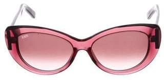 Tod's Gradient Round Sunglasses