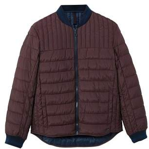 MANGO Quilted bomber jacket