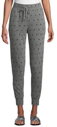 Splendid Dot-Print Drawstring Jogger Sweatpants