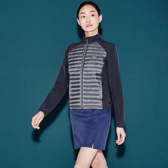 Lacoste Women's SPORT Golf Bi-Material Tech & Print Zip Jacket