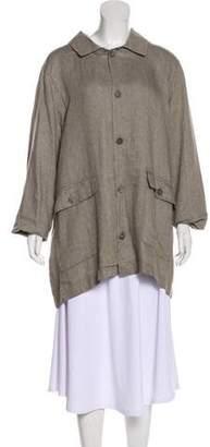 eskandar Linen Button-Up Coat