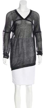 Zero Maria Cornejo Mesh Long Sleeve Top