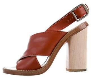 Chloé Leather Slingback Sandals