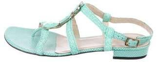 Eric Javits Embellished Caged Sandals
