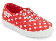 Cienta Baby's, Toddler's& Kid's Polka Dotted Canvas Sneakers