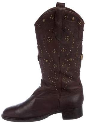 Sartore Leather Embellished Boots