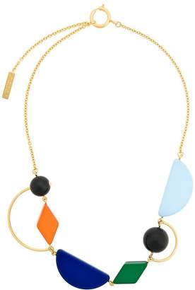 Marni geometric design necklace