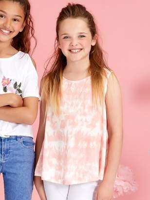 M&Co Teens' glitter tie dye vest top