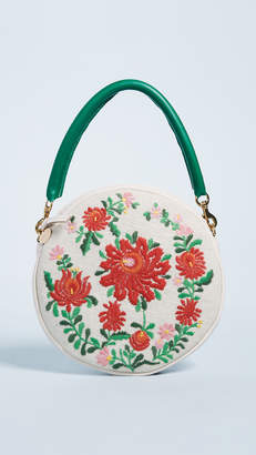 Clare Vivier Embroidered Circle Clutch