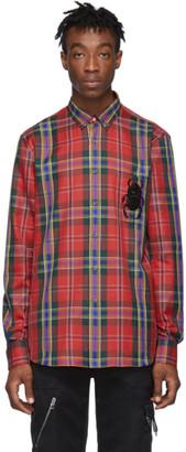 Alexander McQueen Red Tartan Bug Shirt