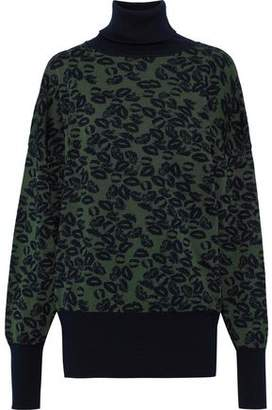 Sonia Rykiel Metallic Wool-blend Jacquard Turtleneck Sweater