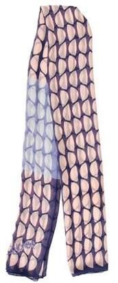 Diane von Furstenberg Sheer Printed Scarf