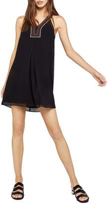 BCBGeneration Sleeveless Embroidered-Trim Swing Dress