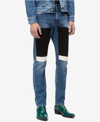 Calvin Klein Jeans Men Slim-Fit Blocked Patches Jeans