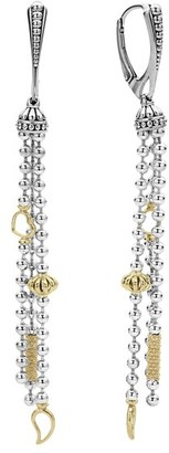 Women's Lagos 'Caviar Icon' Linear Drop Earrings $700 thestylecure.com