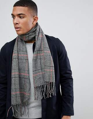 New Look scarf in black check
