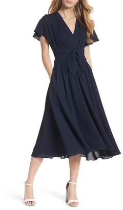 Gal Meets Glam Jane Tie Waist Midi Dress