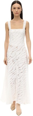 Gioia Bini Lucinda Zebra Voile Midi Dress