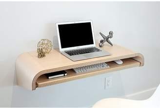 Orange22 Minimal Floating Desk with Curved End