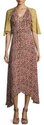 Derek Lam 10 Crosby Silk Animal-Print Midi Dress, Pumice $850 thestylecure.com