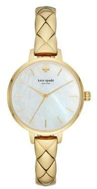 Kate Spade Metro Gold Stainless Steel Half Bangle Bracelet Watch