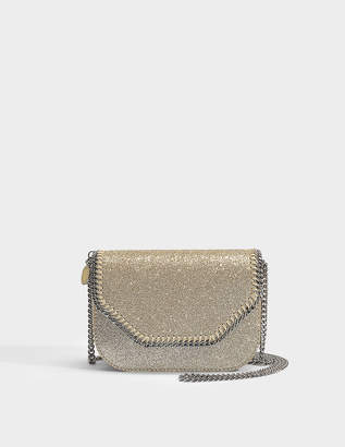 952cc4a8f9 Stella McCartney Glitter Mini Tote Falabella Box in Light Gold Eco Fabric