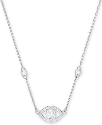 Swarovski Silver-Tone Crystal Eye Pendant Necklace