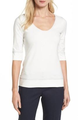 Women's Boss Etopa Knit Top $120 thestylecure.com