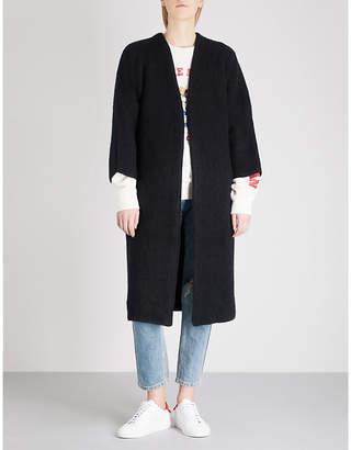 Mo&Co. Oversized knitted cardigan