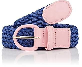 Andre x Beltology Women's Woven Elastic Belt - Blue