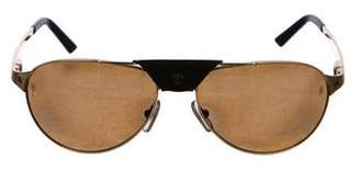 Cartier Santos Dumont Polarized Aviator Sunglasses