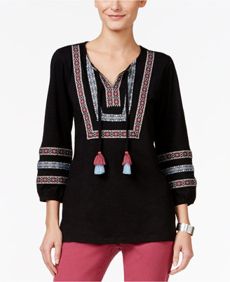Style & Co. Embroidered Peasant Top, Only at Macy's $44.50 thestylecure.com