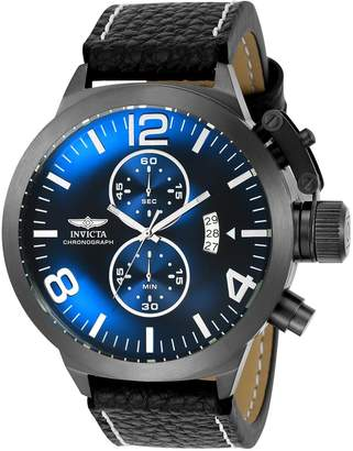Invicta Men's 'Corduba' Quartz Stainless Steel and Leather Casual Watch, Color: (Model: 23687)