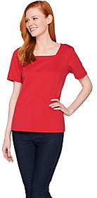 Joan Rivers Classics Collection Joan Rivers Wardrobe Builders (R) Square NeckTee Shirt