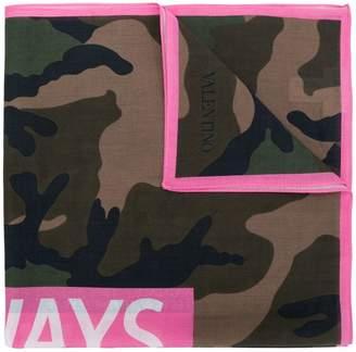 Valentino Always camouflage print scarf