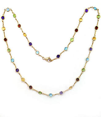 Effy 14 Kt Yellow Gold Multi Colour Station Necklace