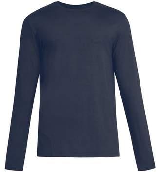 Derek Rose Basel Long Sleeved Jersey T Shirt - Mens - Denim