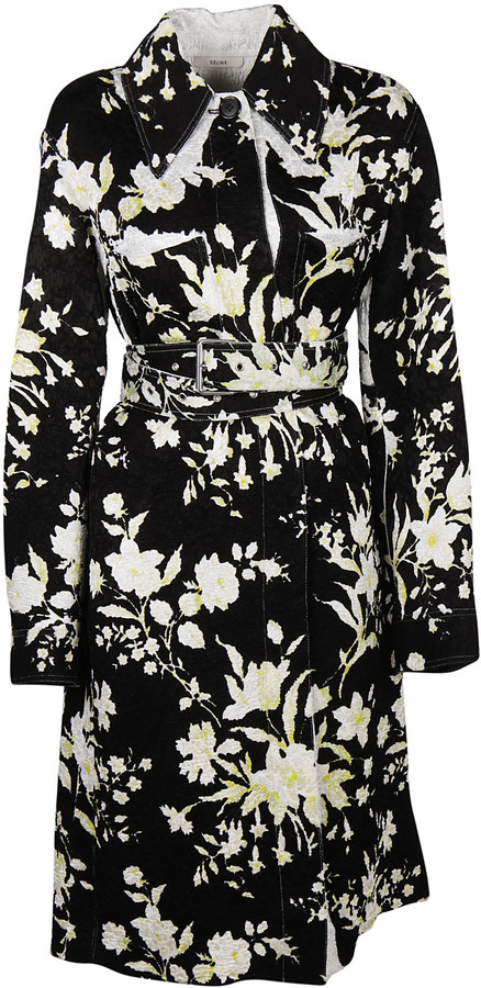 CelineCeline Floral Trench Coat