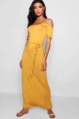 boohoo Open Shoulder Maxi Dress